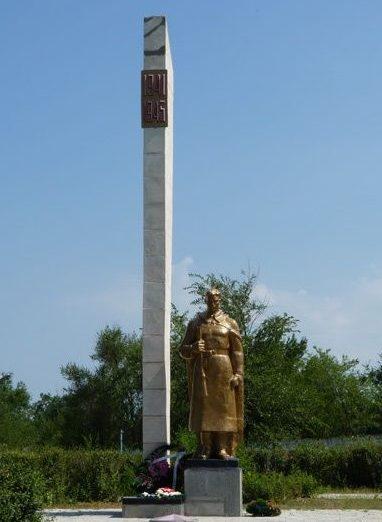 с. Троицкое Бердянского р-на. Памятник, установленный на братской могиле, в которой похоронено 14 советских воинов.