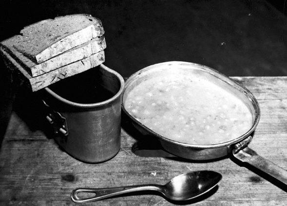 Обеденный рацион подсудимых Нюрнбергского процесса. 1945 г.