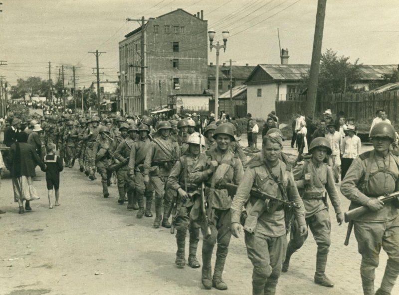 Советские войска в Маньчжурии. Август 1945 г.