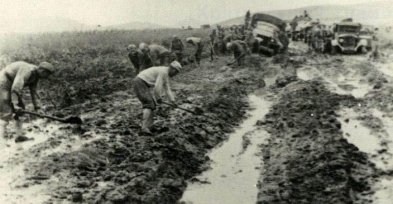 Дорога в Маньчжурии. Август 1945 г.