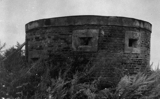Недостроенные японские огневые точки на углах земляных валов в районе города Фуцзинь. Август 1945 г.