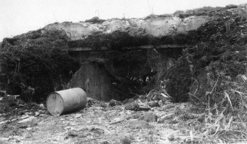 Подорванные японские ДОТы на мысе Кокутан острова Шумшу. Август 1945 г.
