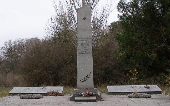 с. Соколовка Вольнянского р-на. Памятник советским воинам, погибшим в годы войны.