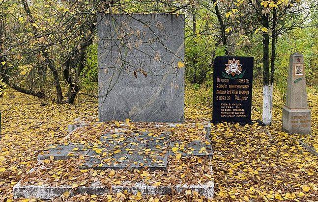 с. Терсянка Вольнянского р-на. Памятники, установленный на братской могиле, в которой похоронено 52 советских воинов и памятник воинам-односельчанам.