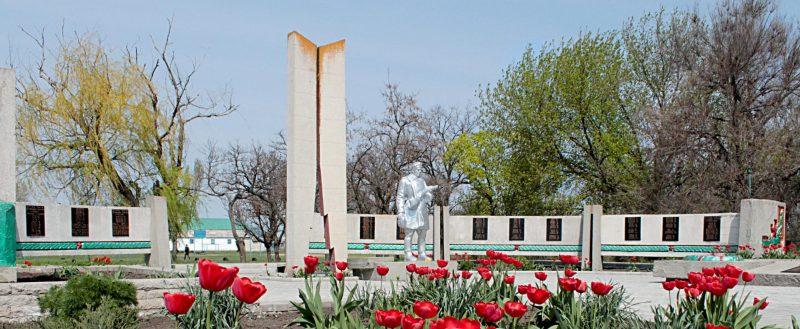 с. Успеновка Гуляйпольского р-на. Памятник, установленный на братской могиле советских воинов.