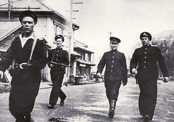 Вход советских войск в Маоку. Август 1945 г.