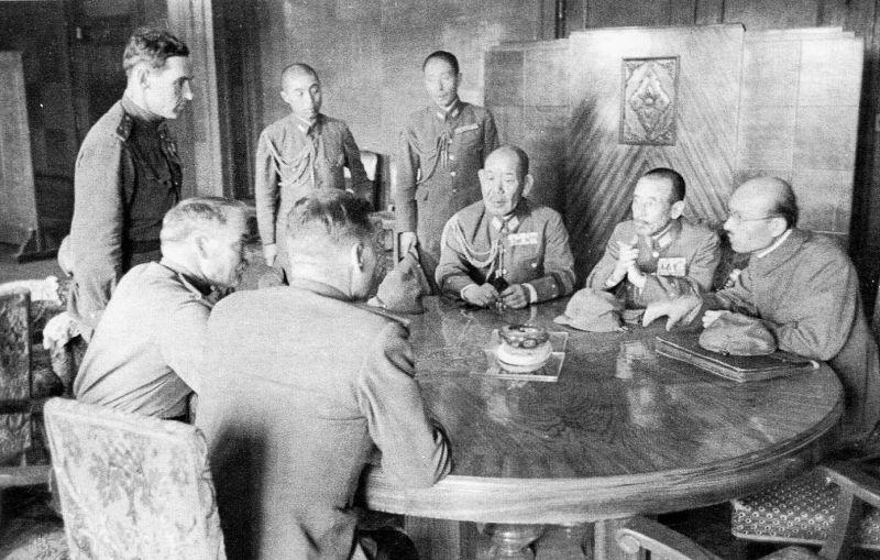 Переговоры советского командования с представителями штаба Квантунской армии об условиях капитуляции японских войск. Август 1945 г.