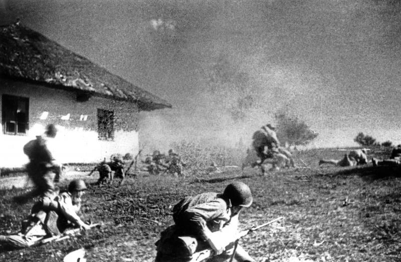 Советское наступление.