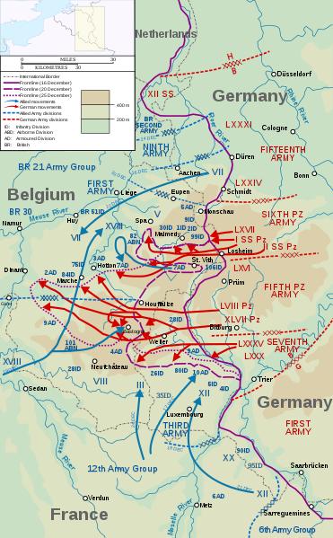 Наступление немецких войск в Арденнах. 16-25 декабря 1944 г.
