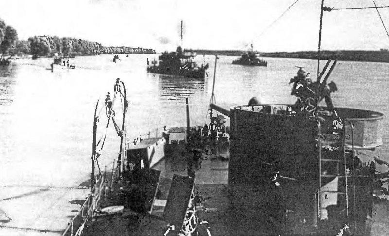Советские мониторы на Дунае.