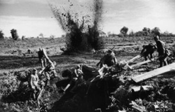 Наступление советских войск на территории Польши.