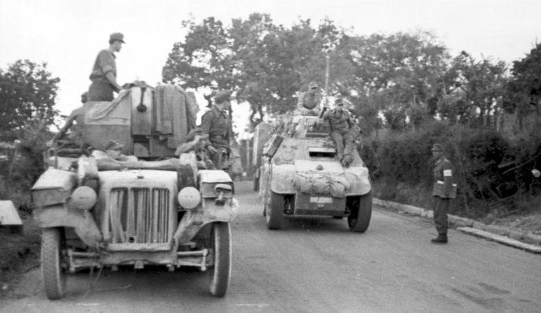 Немецкие войска у Римини.