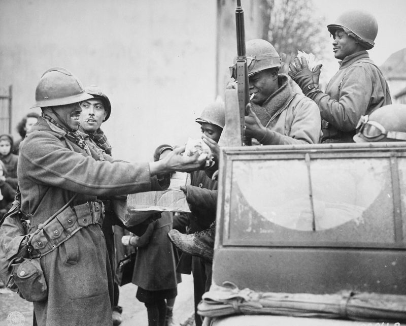 Французские и американские войска соединились в Руффахе.