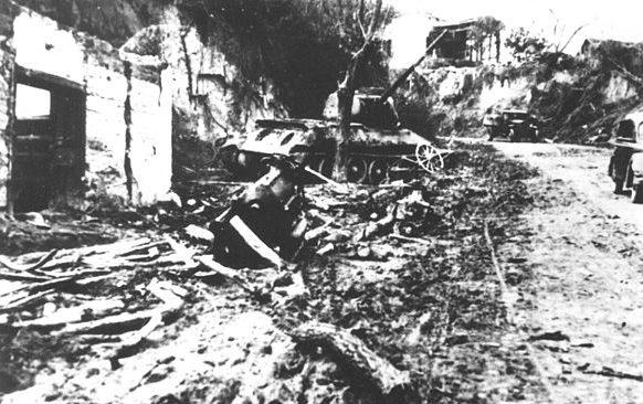 Батина после битвы.