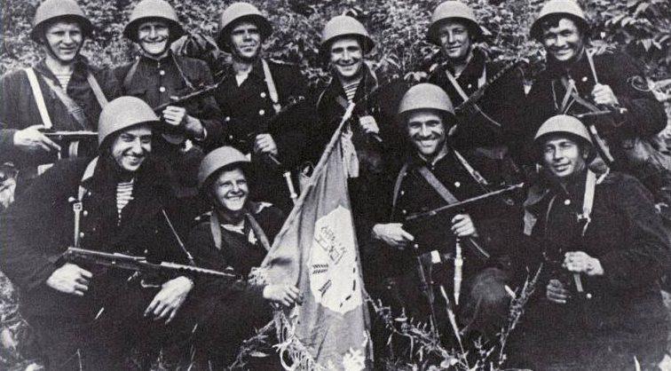 Десантники Тихоокеанской флотилии.