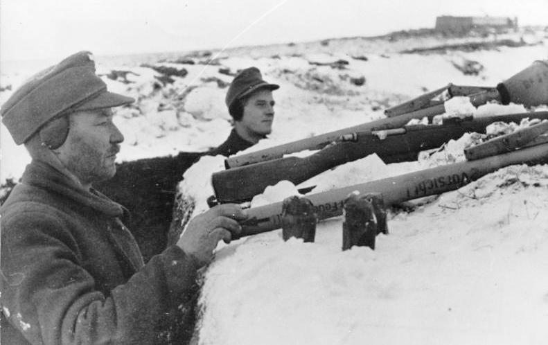 Немецкие войска в обороне Кенигсберга.