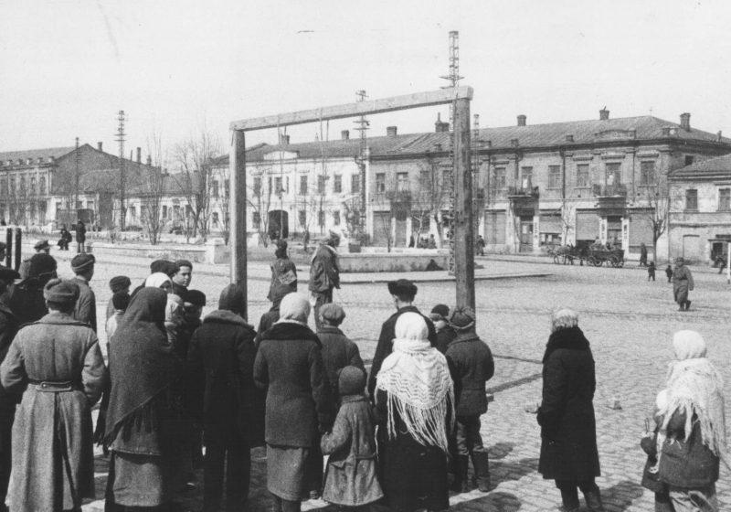 Казнь нацистских преступников.