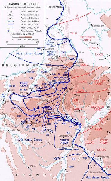 Контрнаступление Союзников и ликвидация ими Арденнского выступа. 25 декабря 1944 - 29 января 1945 г.