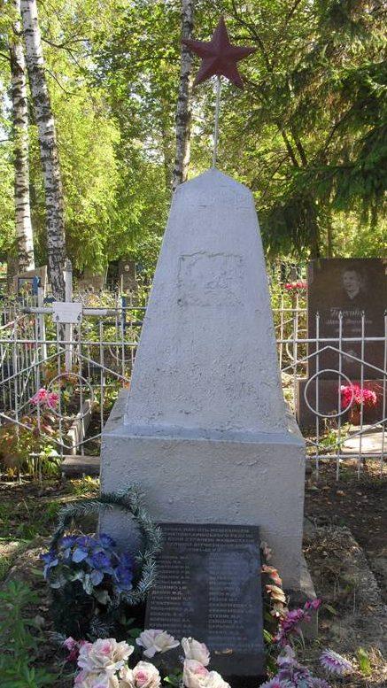 п. Великая Писаревка. Братская могила жертв фашизма на кладбище.