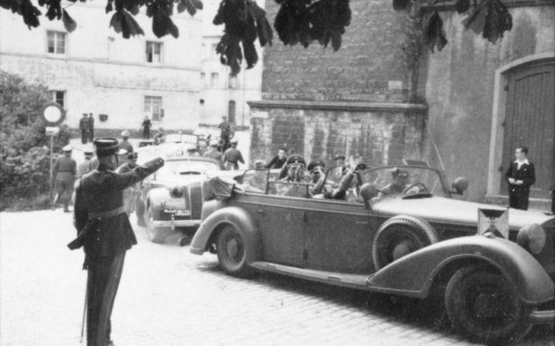 Генрих Гиммлер в Люксембурге. Сентябрь 1940 г.
