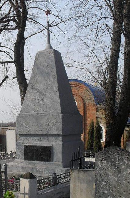 г. Ахтырка. Братская могила жертв фашизма, на центральном кладбище.