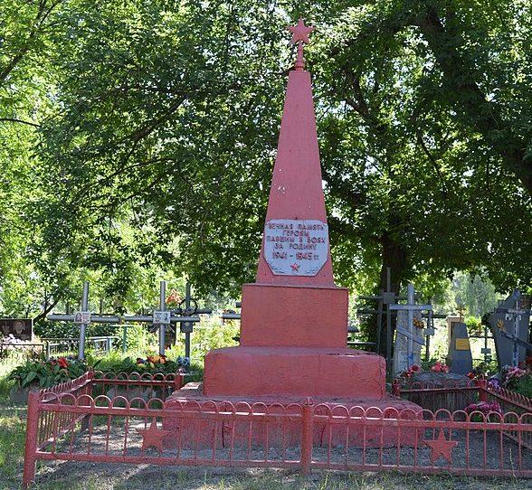г. Ахтырка. Братская могила советских воинов на Успенском кладбище.