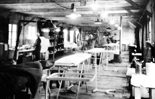 107-я эвакуационный госпиталь в Клерво. Декабрь 1944 г.