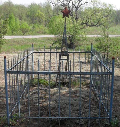 Братская могила жителей сожженного села Каплица.