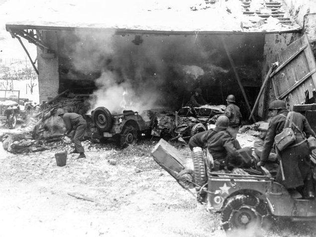 Бой в разрушенном Вильце. Январь 1945 г.