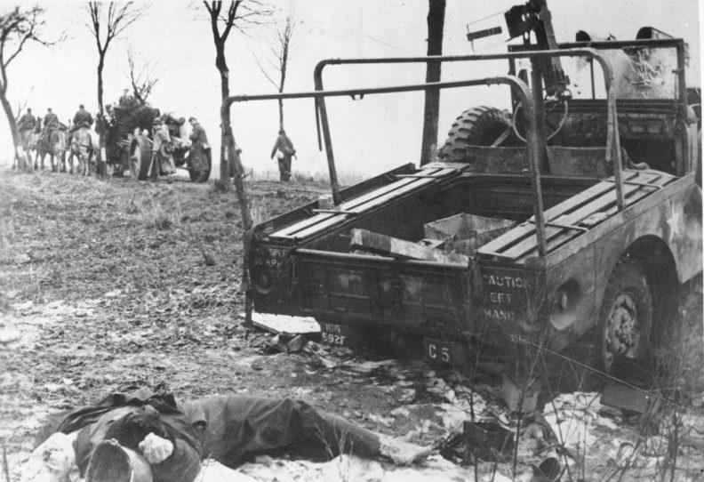 Захваченные американские позиции. Декабрь 1944 г.