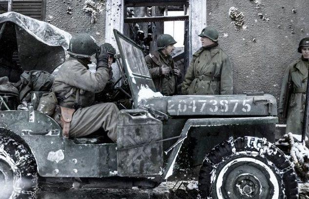 Генерал-майор James A. Van Fleet в Харланже. Январь 1945 г.