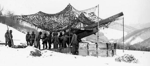 Орудийные позиции у Нейнхаузена. Январь 1945 г.