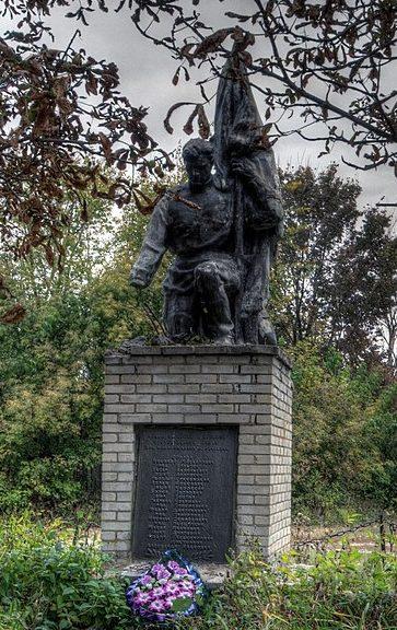 с. Нечаевка Бурынского р-на. Памятник, установленный на братской могиле советских воинов.