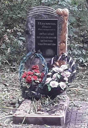 с. Яровая Бурынского р-на. Могила советского воина Наумца П.В. на кладбище.