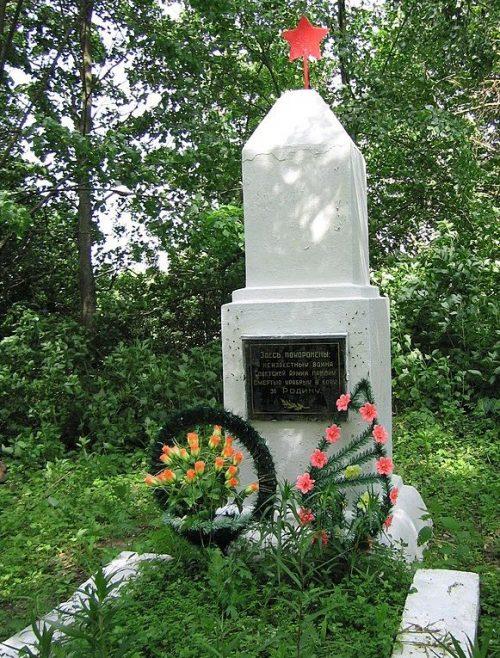 с. Толстодубово Глуховского р-на. Братская могила на кладбище советских воинов.
