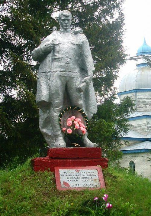 с. Уздица Глуховского р-на. Памятник погибшим воинам-землякам.