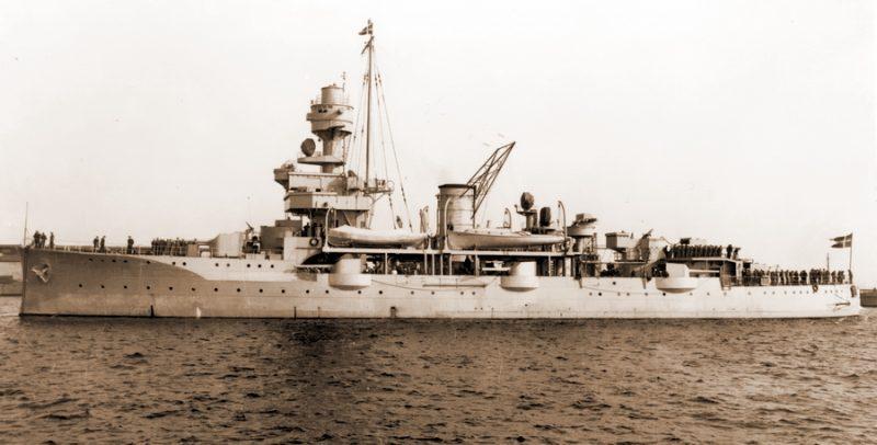 Броненосец береговой обороны Королевского ВМФ Дании «Нильс Юэль».