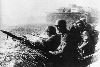 Немецкие войска у Белой Церкви. Июль 1941 г.