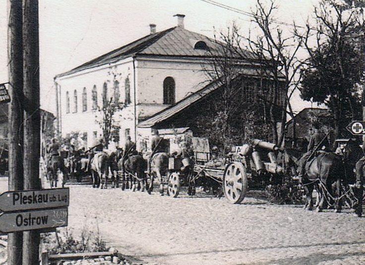 Немцы в Порхове. 1941 г.