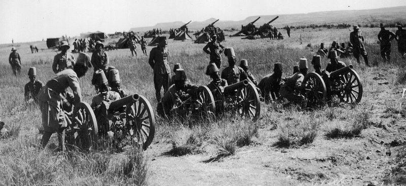 Итальянская артиллерия в Эфиопии.