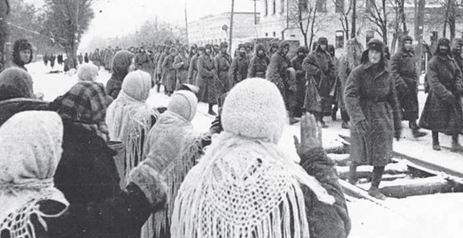 Красная армия входит в город. 20 января 1943 г.