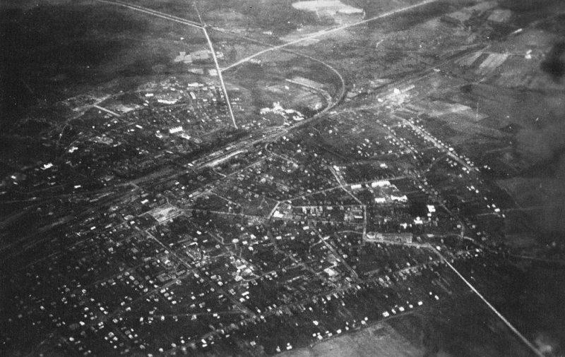 Вид города с немецкого самолета. Июль 1941 г.