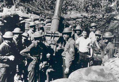 3-дюймовая зенитная установка М3 возле Манилоу. Декабрь 1941 г.