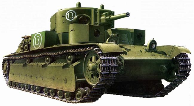 Средний танк Т-28. На подобном Малько с экипажем «совершали свой подвиг».