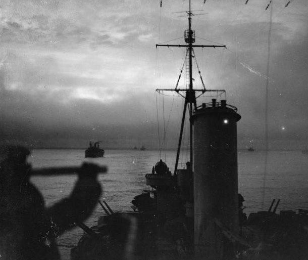 На борту HMS «Sheffield» во время охраны арктического конвоя. Декабрь 1941 г.