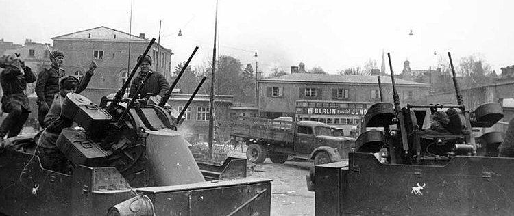 Советские войска в Данциге.