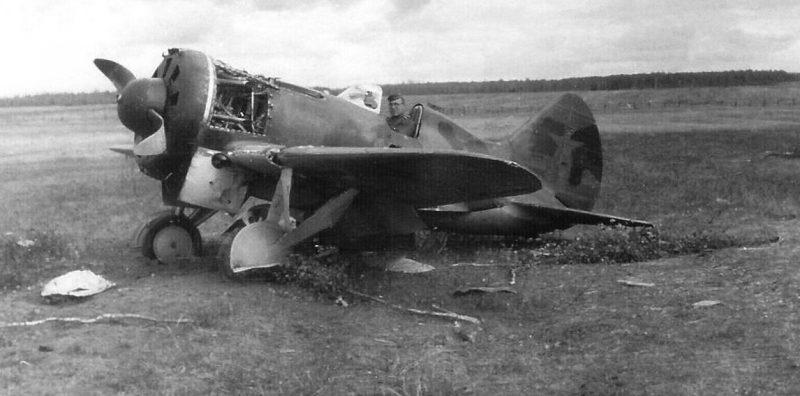 Самолет И-16 на аэродроме «Гривочки». Июль 1941 г.