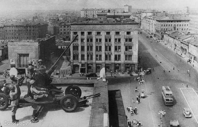 Зенитчики в обороне Москвы.