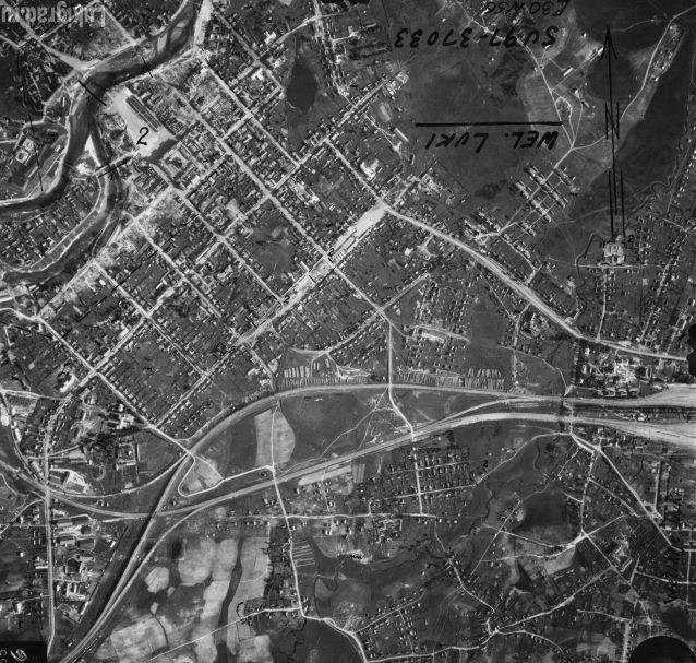 Немецкая аэрофотосъемка города. 12 июля 1941 г.