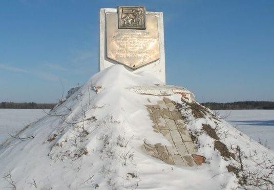 Городнянский р-н. Памятный знак возле дороги Чернигов-Городня воинам 14 гвардейской кавалерийской дивизии.